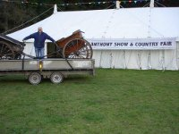 Glyn and carriages at Llanthony Show film scene for Resistance Film November 2010
